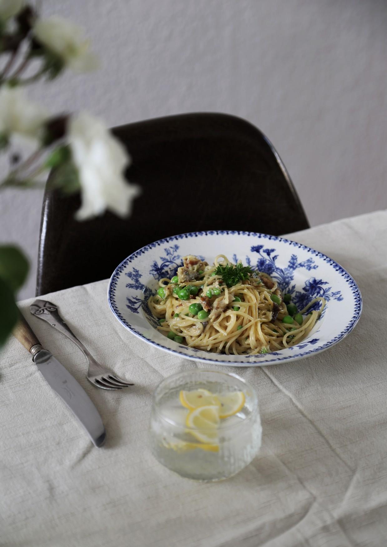 Mackerel Carbonara Recipe - Isabella ...
